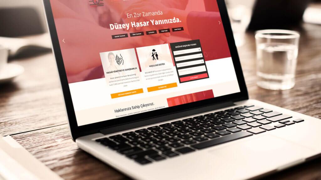 Düzey Hasar Web Tasarım